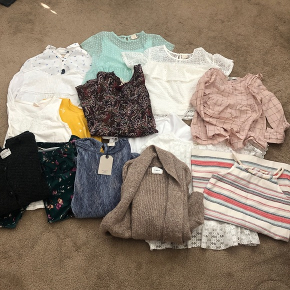 Zara Girls Bundle Of 15 Size :-9-10 Clothes